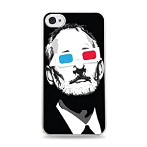 630 Bill Murray 3D Glasses Apple iPhone 4/4S Hardshell Case - White