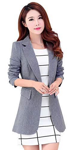 Womens Slim Fit Office Business Blazers One Button Jacket My Wonderful World