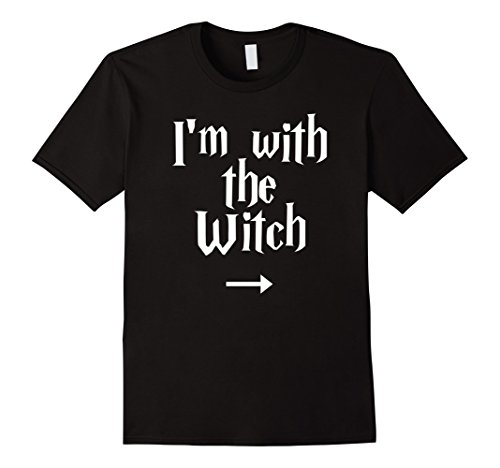 Mens I'm with the Witch t-shirt His and Her Outfit 3XL Black (His And Hers Halloween Shirts)