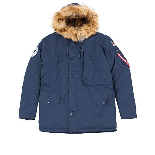 Homme Parka Navy New Alpha Jacket Polar 7Ewtwv