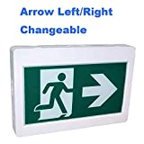 Premium Lighting Led Exit Sign Running Man Emergency Light Combo, Running Man Green Exit Sign&Double Sided Exit Sign,UL certifited,left/right battery back up 90minutes 120V 347V universal mounting wall mounting/side mounting / ceiling mounting Led Emergency Exit Sign/Emergency Led Light Exit Sign/Commercial Emergency Light Sign-premium lighting (without head)