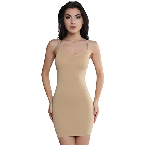 Smart Fit Me Women Slimming Full Slip Under Dresses (Nude, S) (Best Shapewear For Bodycon Dress)