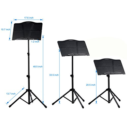 Donner Sheet Music Stand DMS-1 Folding Travel Metal Music Stand With Carrying Bag by Donner (Image #6)