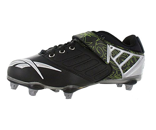 daf73a693ecbfe Reebok Bulldodge Low Sd2 Lc Mens Football Shoes Black Silver Lime Size 9.5