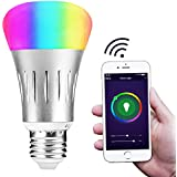 WiFi Light Bulb, Smart LED Light Bulb Multicolored, Compatible with Amazon Alexa and Google Home Assistant, Hallway, Patio, Garage