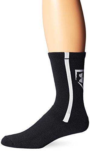 Under Armour Men's Baseball Crew Socks (1 Pair), Black/White, Large Under Armour Baseball Socks