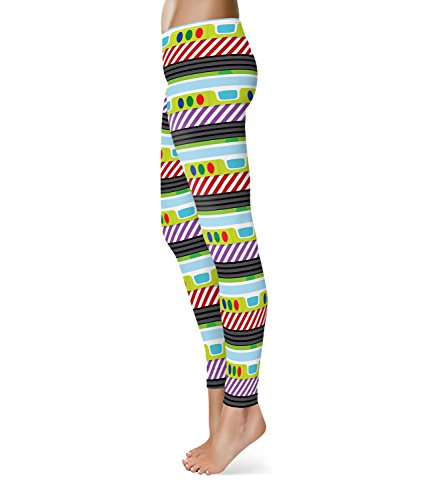 Queen of Cases - Legging de sport - Femme multicolore Multicolore taille unique