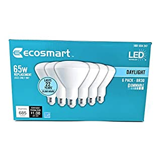 EcoSmart 65W Equivalent Daylight BR30 Dimmable LED Light Bulb (6-Pack)