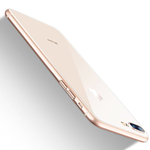 iPhone 8 Plus Case,iPhone 7 Plus Case, HUMIXX Thin Sleek Fully Protective (Naked Phone Texture) Matt Finish Hard Case Cover for iPhone 7 Plus iPhone 8 Plus[Skin Series] (Hard Transparent)