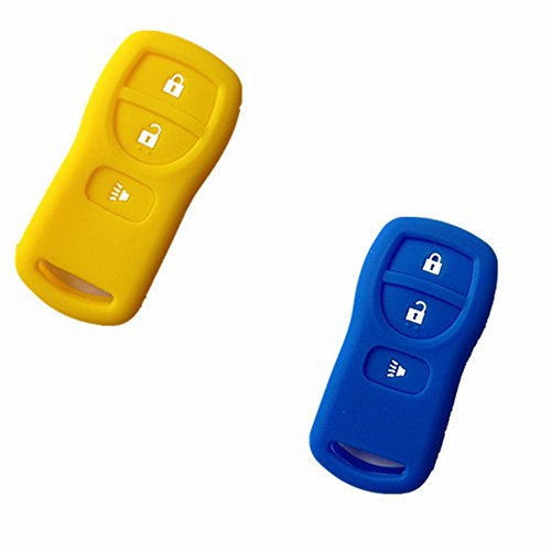TCKEY 2pcs New Silicone Protective Fob Skin Key Cover Jacket Protector Sleeve Keyless Fob for Nissan Armada Frontier Murano Quest Xterra Titan Pathfinder Infiniti 28268EA00A 28268-D4005 (Nissan Frontier Key Cover compare prices)
