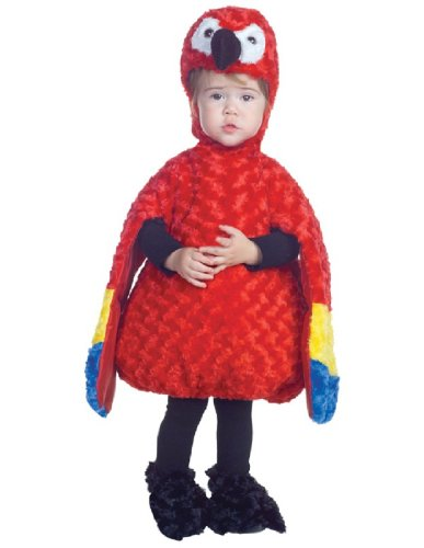 Underwraps Costumes Baby's Parrot Belly-Babies, Red/Yellow/Blue, (Underwraps Costume)