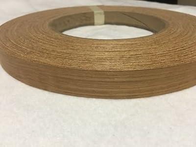 """Teak pre glued 15/16""""x25' Wood Veneer edge banding"""