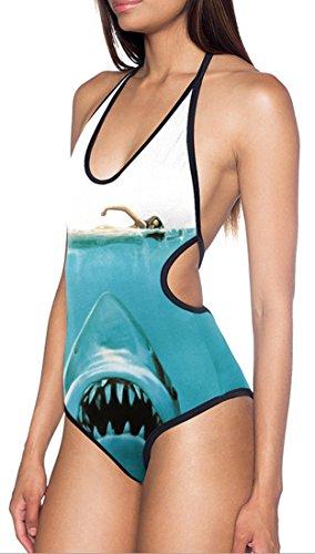 Thenice Women's Sexy One-piece Swimsuits Bikini (eating shark)
