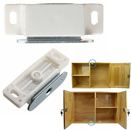 3kg Pull Magnetic Latch Catches Touch Hasp Padlock for Door Wardrobe Drawer Kitc