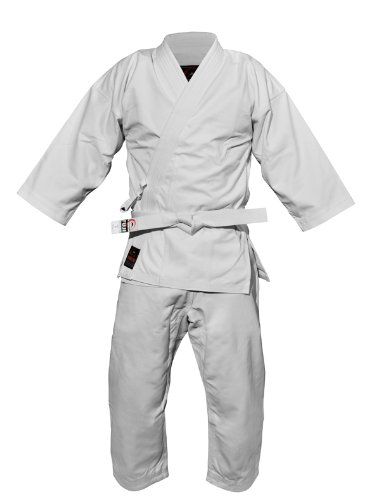 Fuji Advanced Brushed karate Uniform, White, 6