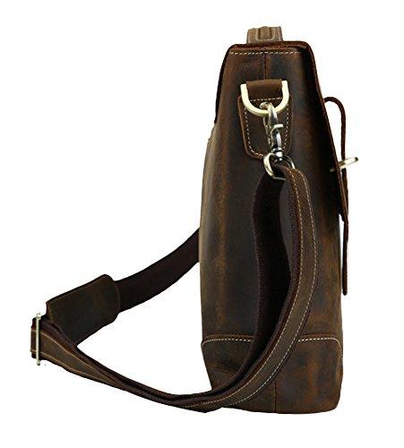 De Insun Coffee Horse Leather Hombro Hombre Crazy Bolso wwCxqB5f