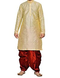 Royal Kurta Big Boy's Art Silk Blend Dhoti Kurta Set