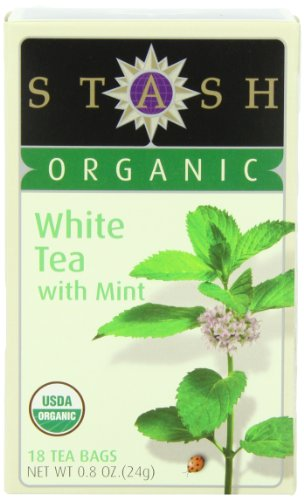 Stash Tea Organic White Tea with Mint, 18 Count Tea Bags in Foil (Pack of 6)
