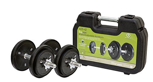 Marcy ECO Iron 40 lb. Adjustable Dumbbell Set with a Carrying Case ADS-42