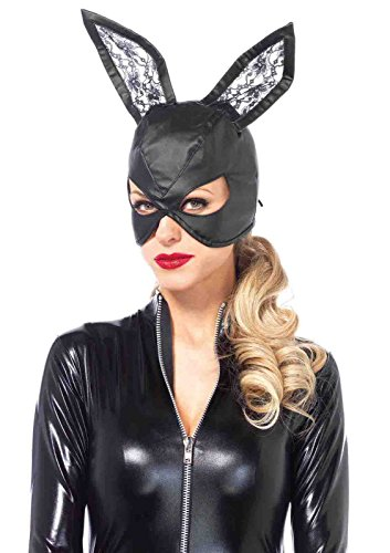 Faux Leather Bunny Mask Bundle with Pink (Leather Bunny Costume)