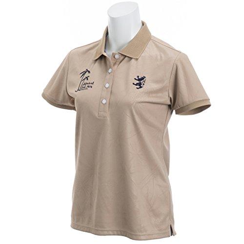 アドミラル Admiral 半袖シャツ?ポロシャツ パイナップルエンボス 半袖ポロシャツ レディス