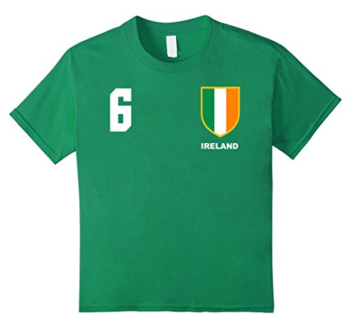 Kids Ireland Football Soccer Jersey T-Shirt 6 Kelly (Ireland Football)