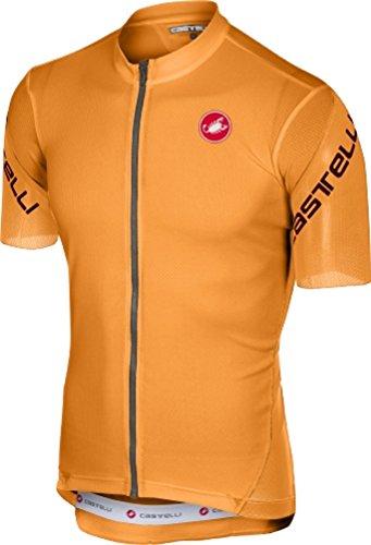 Castelli Entrata 3 Full-Zip Jersey - Men's Orange, L