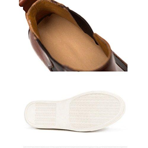 Stivaletti Rotonda Resistente Alte Scarpe Britanniche Moda NTUMT Darkgray Tendenza Caviglia all'Usura Testa Casual Primavera Scarpe alla fSna5wH