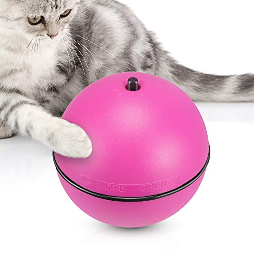 YUEJING Cat Toy Ball Upgraded, Smart Interactive Cat Toy for Kitty, Electronic Cat Ball Toy with Version 360 Degree Self…