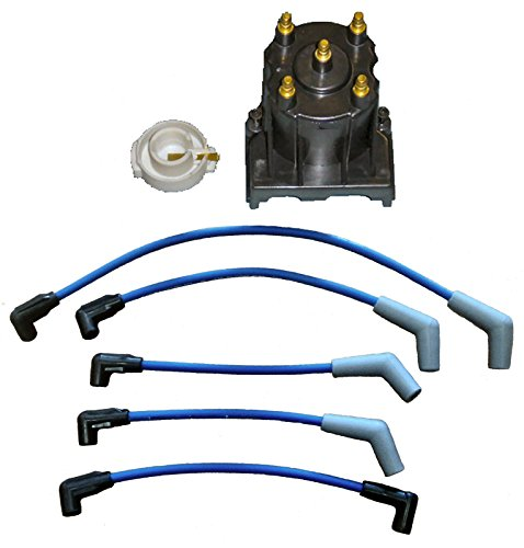 Marine Tune Up Kit with Plug Wires for Some Mercruiser 3.0L LX Replaces 811635Q2 816761Q14 (Part Type Ignition Distributor)