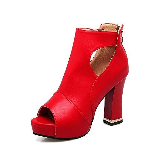 Pure Grand Format du Plate High Forme d'épaisseur la Heels Bouche Red avec Chaussures Sandales étanche Couleur Poisson Femmes nwZOA