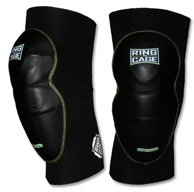 Ring to Cage Deluxe MiM-Foam Knee Pads - Leather for MMA Grappling Jiu Jitsu-Large