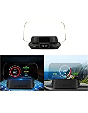 Heads up Display for Cars Dual System Head Up Display OBD2 HUD GPS Digital Speedometer C2 OBD2 Meter Gauge Oil/Coolant Temp. Turbo Boost car Projector