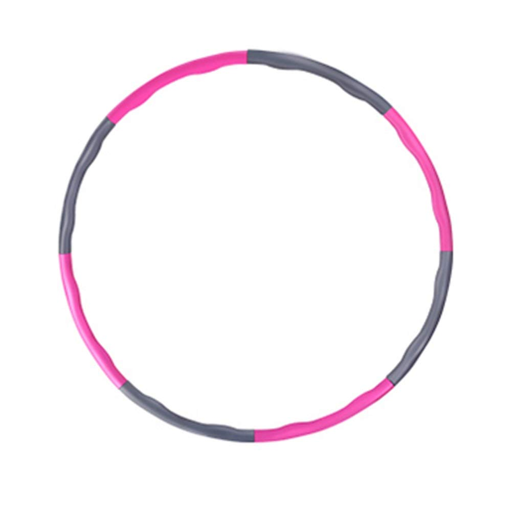 Hula Hoops Removable Gray Dancing Hot Fitness Workouts Adults Exercise Outdoor Sports Portable HUYP (Size : 100cm)
