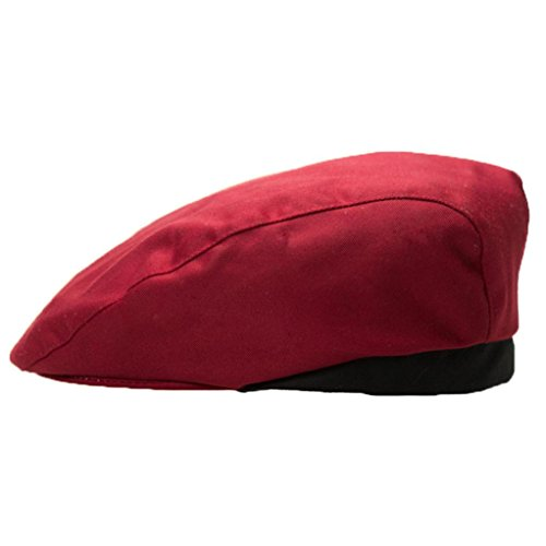 Price comparison product image Aniywn Hot Sale! Stylish Men Women Chef Hat Catering Baker Kitchen Cook Duckbill Beret Golf Caps (Free Size,  Red Wine 2)