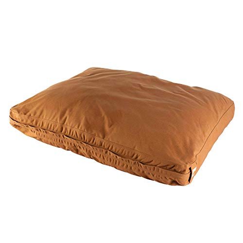 Carhartt Durable Canvas Dog Bed, Premium Pet Bed With Water-Repellent Coating, Large, Carhartt Brown