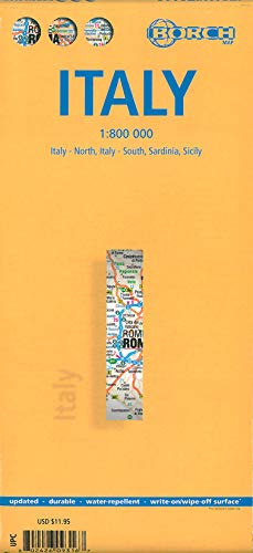 Laminated Italy Road Map by Borch (English Edition) (German) Map – March 1, 2014
