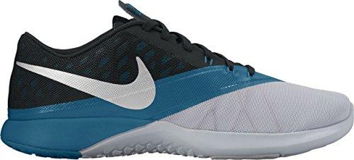 Nike FS Lite Trainer 4–Wolf Grey/METALLIC SILVER di Blac, multicolore, 10.5