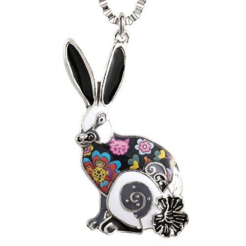 Enameled Rabbit Pendant