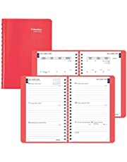 BLUELINE Weekly/Monthly Academic Planner, 13-Month, July 2020 to July 2021, Twin-Wire Binding, Trilingual, 8 X 5 Inches, Coral (CA101BF.01-21)