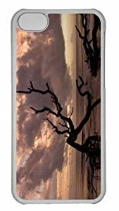 Customized iphone 5C PC Transparent Case - Beach Nature 7 Personalized Cover