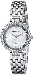Armitron Women's 75/5262MPSV Swarovski Crystal-Accented Silver-Tone Bracelet Watch