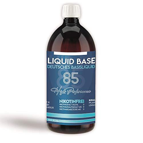 Erste Sahne Basen mit einzigartiger 85% VG / 10% PG / 5% H20 Mischung | Basis zum Mischen von E Liquid | Nikotinfrei…