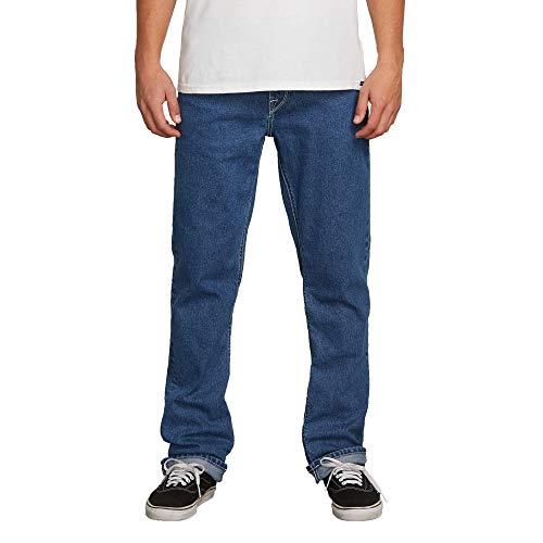 - Volcom Men's Solver Denim Jean, Indigo Ridge Wash, 33X30