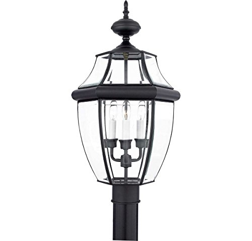 23 Newbury Outdoor Post Lantern in Mystic Black