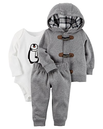 [100% cotton]baby clothes coat+bodysuit+pant infant clothing set - 2