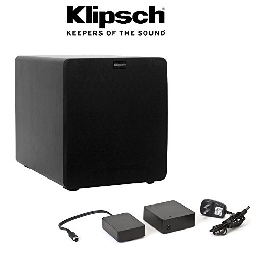 Klipsch SW-110 Black 10-inch 200 Watt Reference II Powered Subwoofer, PLUS Klipsch WA-2 Wireless Subwoofer Kit