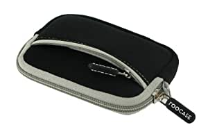 rooCASE Neoprene Sleeve (Black) Carrying Case for Panasonic Lumix Digital Camera DMC-FH6 FH8 S2 SZ1 SZ7 TS4 TS20 ZS20
