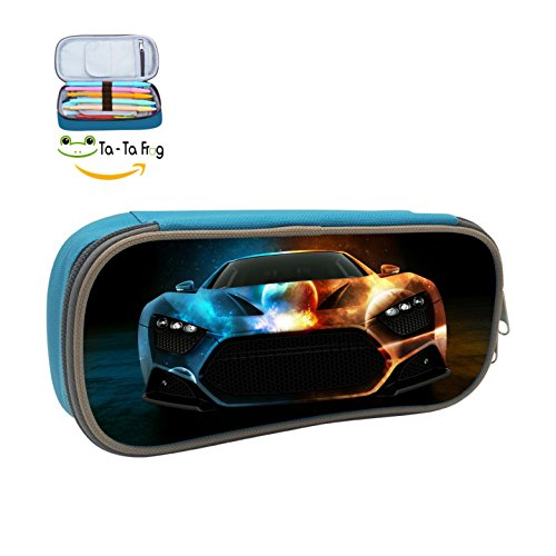 Fine stationery Top Speed Luxury Car Boy's&Girl's Canvas Pencil Case Big Capacity For College ()