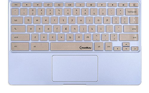 CaseBuy-Keyboard-Cover-Silicone-Rubber-Skin-for-Samsung-ARM-116-Chromebook-2-XE500C12-Chromebook-3-XE500C13-116-inch-Chromebook-Gold